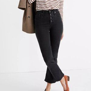 NEW Madewell Cali Demi Boot Cut Jeans Black 31